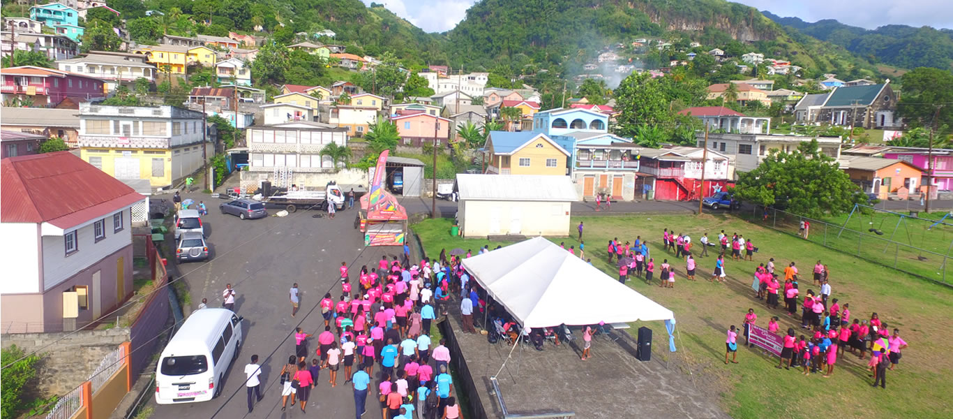 <h1>SVG Mission</h1><p>At Cancer awareness rally</p>